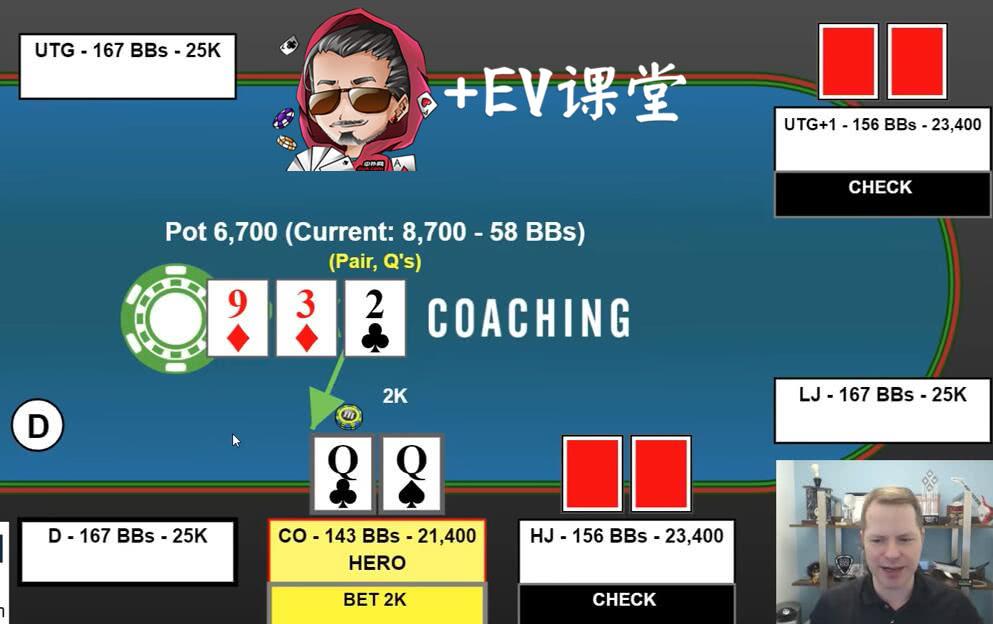【+EV课堂】面对翻牌全下,QQ高对到底能不能跟注?