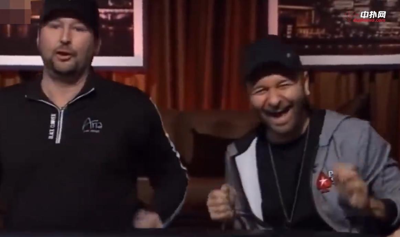 【辣眼视频・中字】笑到头掉,丹牛连搞Hellmuth三把,一次比一次上头