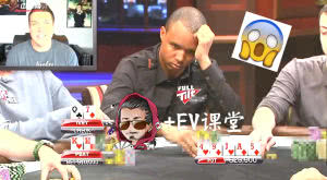 【+EV课堂】Phil Ivey这把Q7o打得超魔幻,居然在牌面49JA5划水,结果呵呵哒