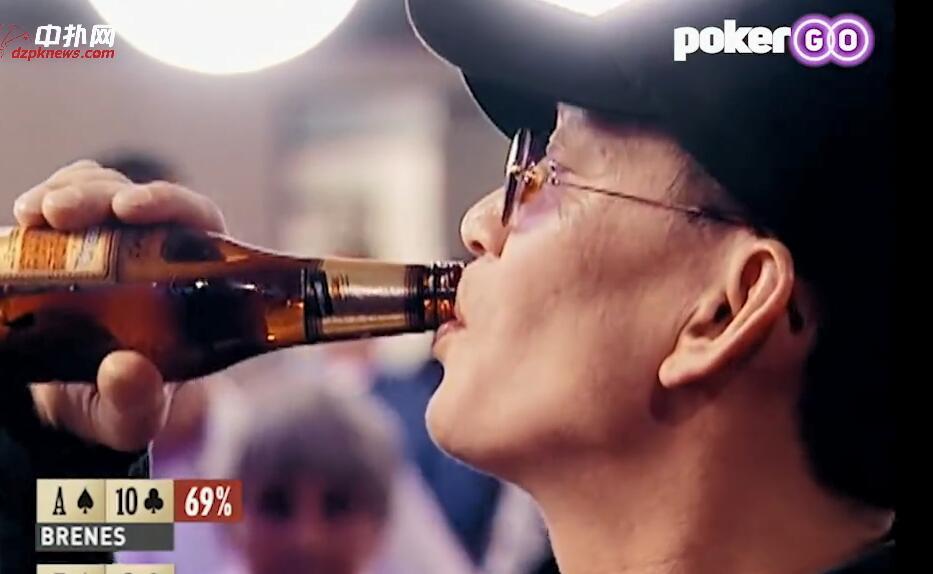 【辣眼视频】史上最经典翻前操作,纯空气牌一边喝酒一边吓跑AT,秀牌惊呆一票人